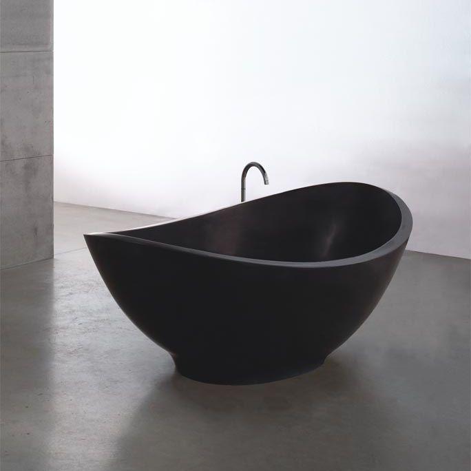 Vasca da bagno da appoggio / ovale / in pietra - LAVASCA MINI by ...