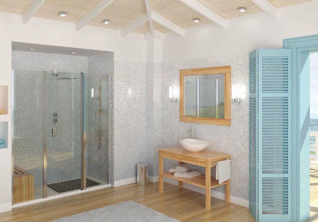 Mobile lavabo da appoggio / in legno / moderno / con specchio ...