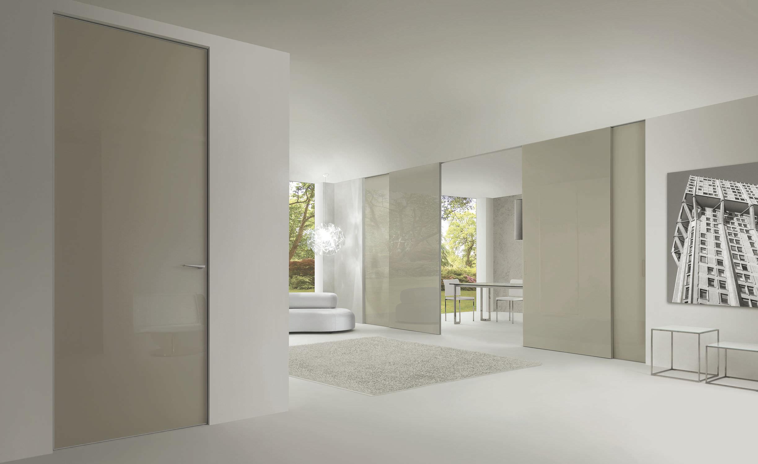 Porta da interni / battente / scorrevole / in vetro - LEVIA by UTR ...