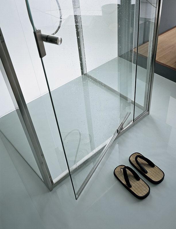 Box doccia in vetro / rettangolare / con sportello battente - OASI ...