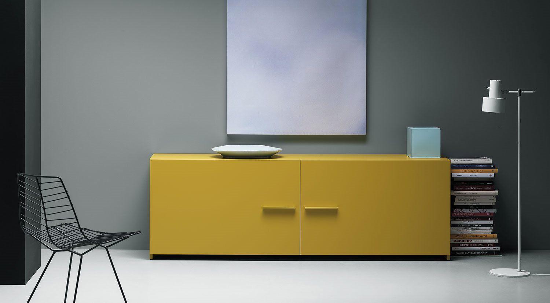 Credenza Moderna Gialla : Credenza moderna in legno laccato gialla easy md house