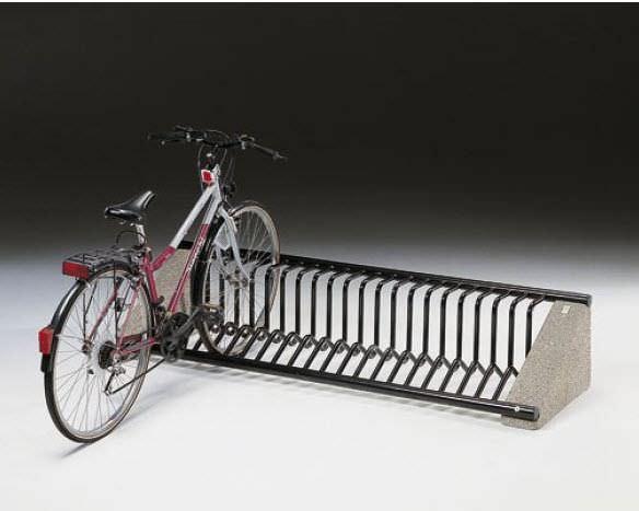 Rastrelliera per biciclette in acciaio per spazi pubblici con