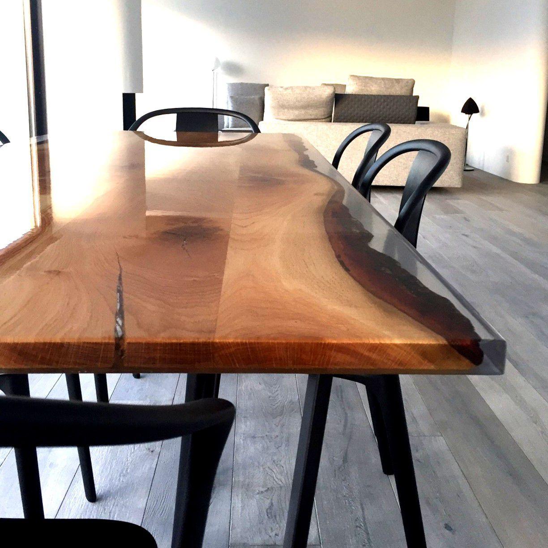 Tavolo da pranzo moderno / in quercia / in resina / rettangolare ...