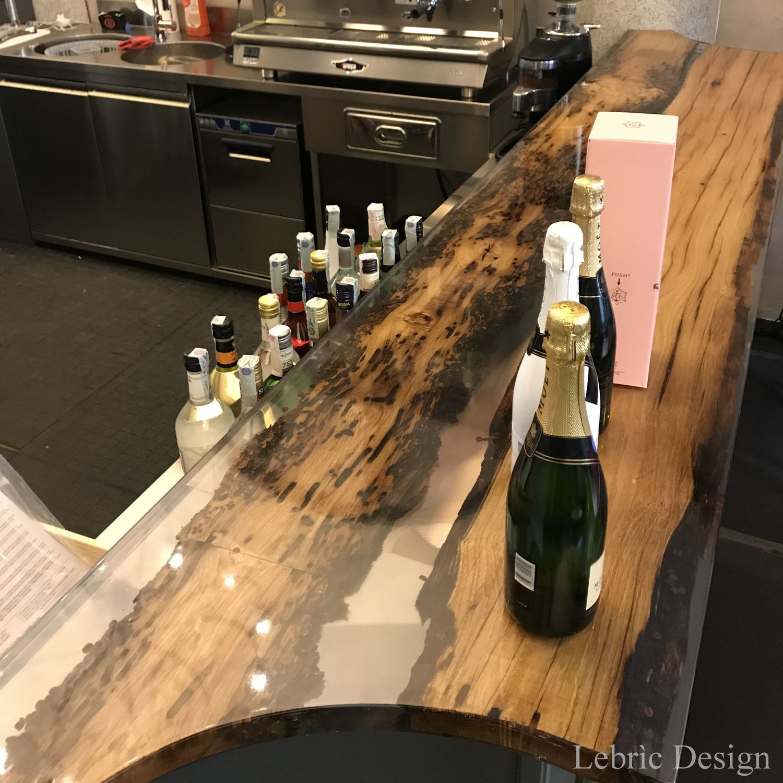 Bancone da bar / da cucina / in legno / dritto - ANTICO TRENTINO DI ...