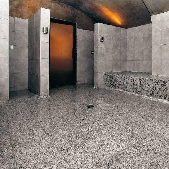 Piastrella da bagno / a pavimento / in marmo / in resina   grigio ...