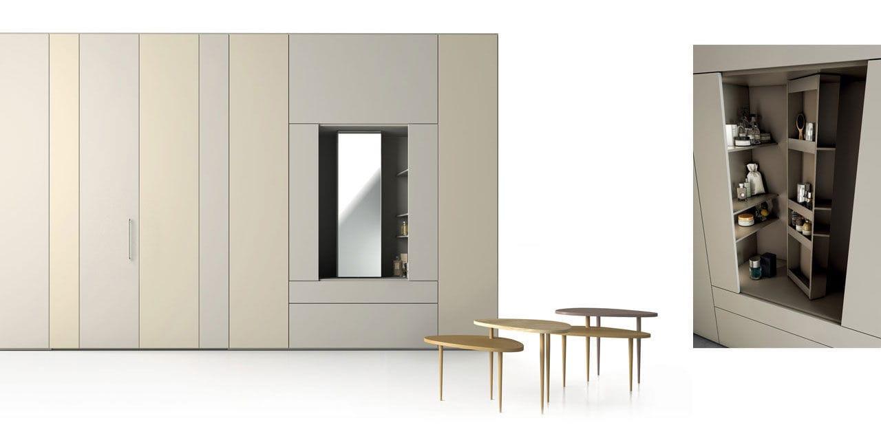 Armadio Moderno In Legno Con Ante A Libro A Specchio Roomy