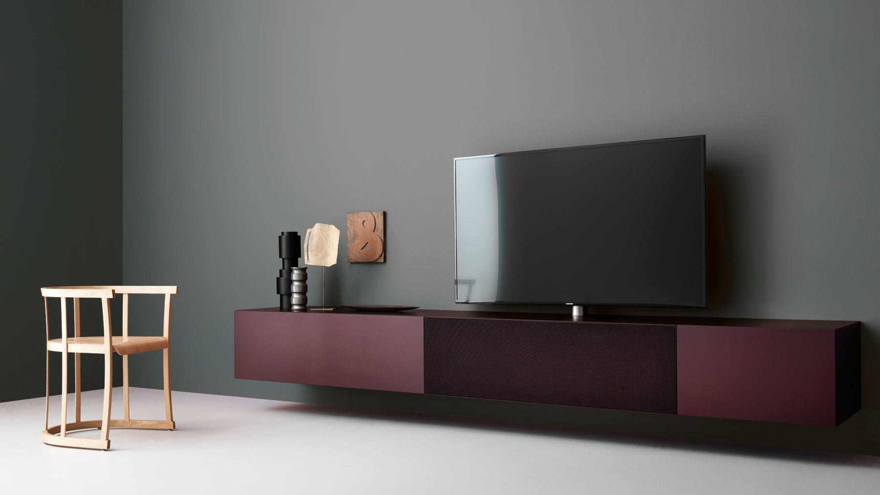 Credenza Moderna Porta Tv : Mobile porta tv moderno in legno laccato metallo brick