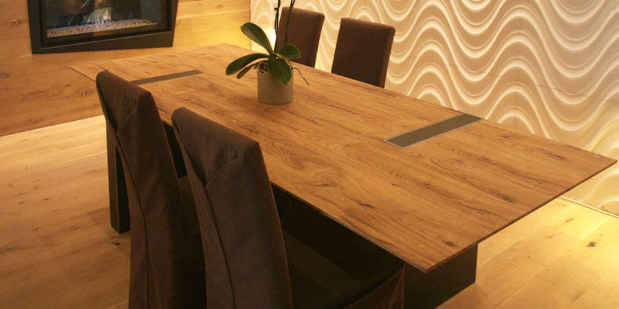 Tavolo da pranzo moderno / in legno / rettangolare - ALVIN - Olivieri