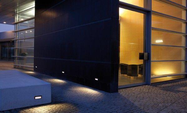 Luce da incasso a muro led rettangolare da esterno quantum