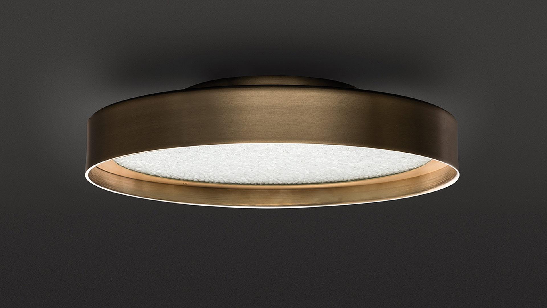 Plafoniera Fiori Vetro : Plafoniera moderna tonda in vetro metallo berlin oluce
