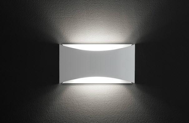 Applique design minimalista in metallo led rettangolare