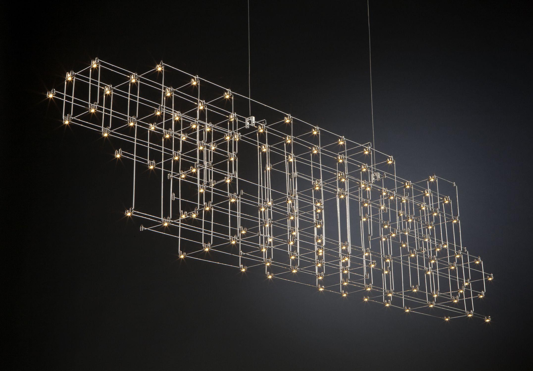 lampadario design originale / in nichel / LED / contract