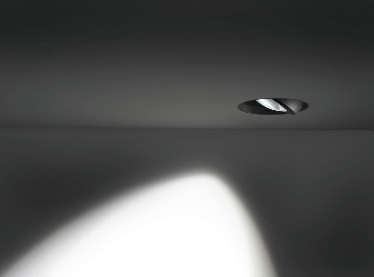 Faretto da incasso a soffitto da interno led tondo wally 01