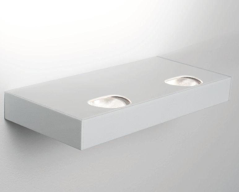 Applique moderna in ghisa di alluminio led rettangolare