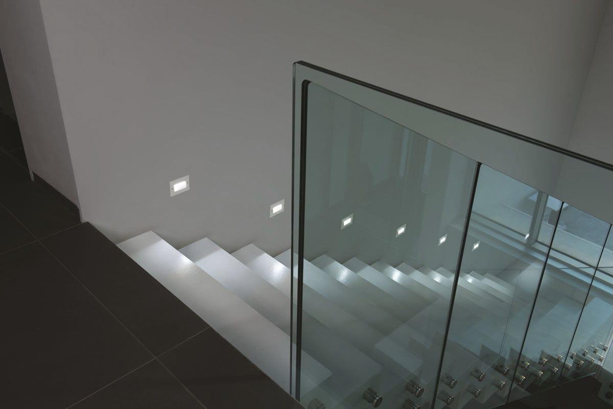 Plafoniera Da Esterno Lombardo : Luce da incasso a muro led rettangolare esterno fix 503