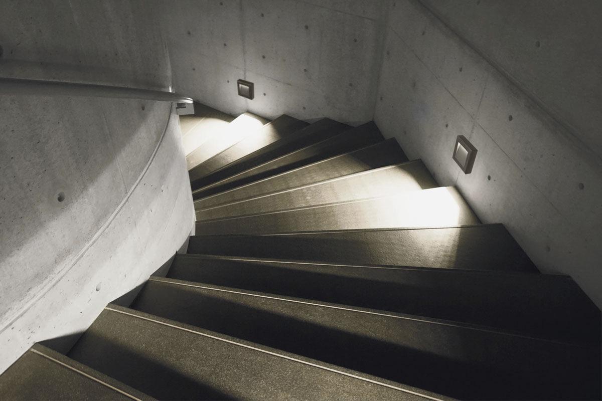 Plafoniera Da Esterno Lombardo : Luce da incasso a muro led quadrata esterno koi 110 by