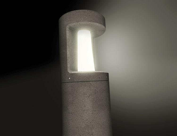 Plafoniera Da Esterno Lombardo : Lampioncino da giardino moderno in calcestruzzo