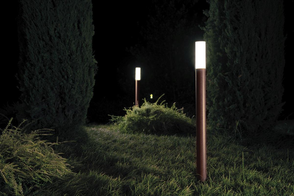 Lampioncino da giardino moderno in ghisa di alluminio in