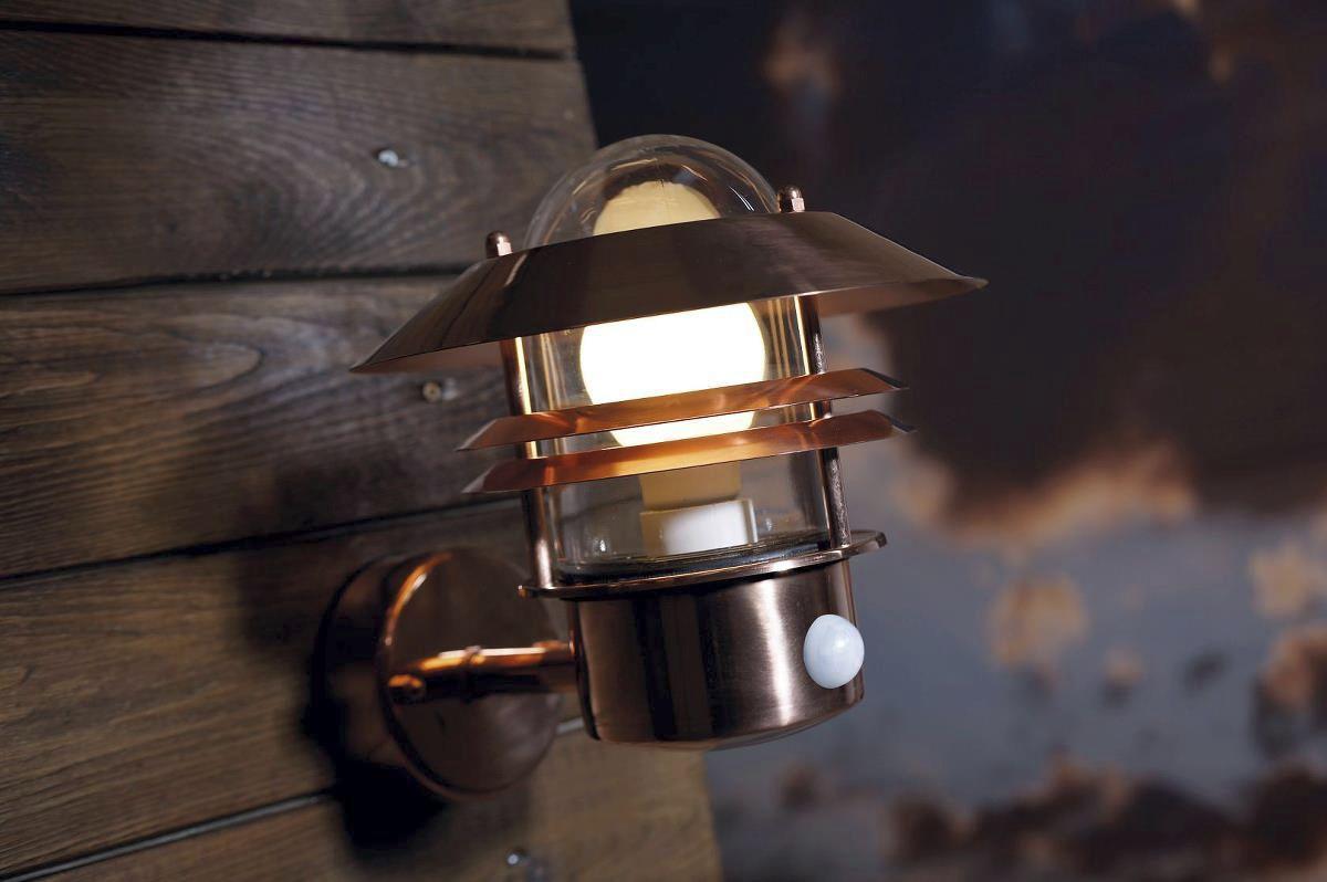 Applique in stile industriale da esterno in rame in acciaio