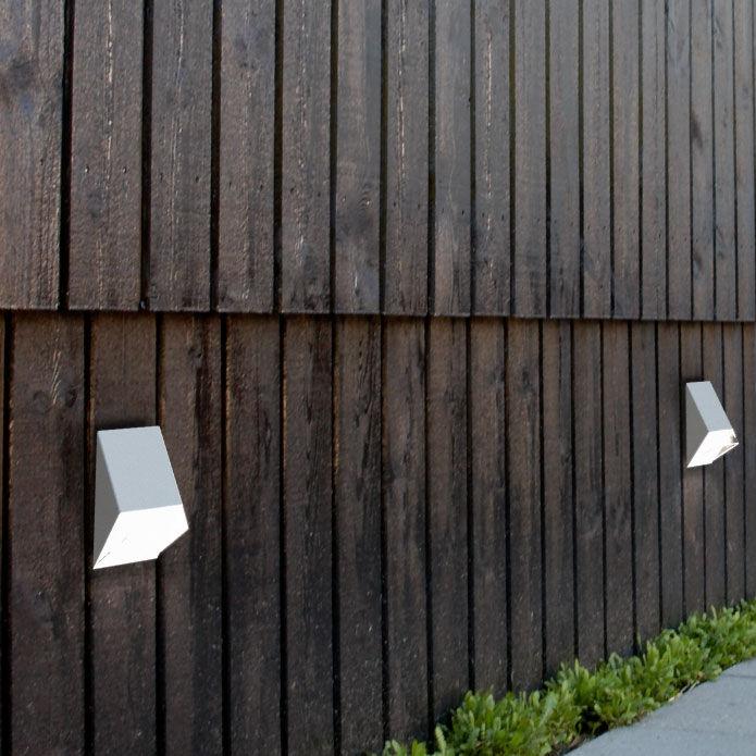 Applique in stile industriale da esterno in acciaio cor ten