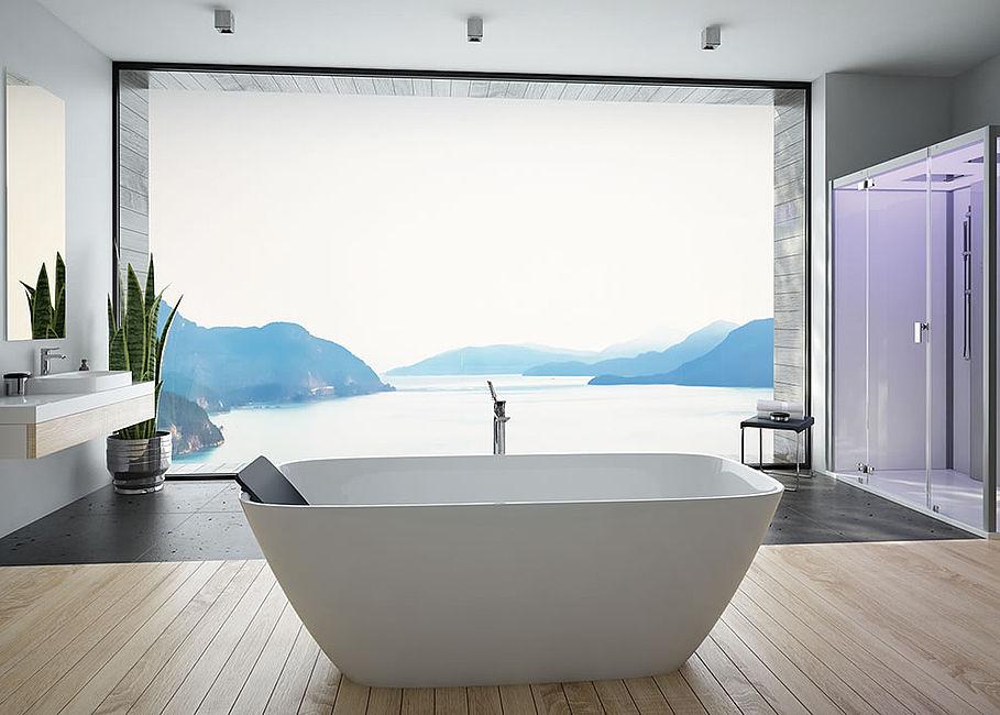 Hoesch Vasche Da Bagno Prezzi : Vasca da bagno da appoggio ovale ghisa minerale lasenia