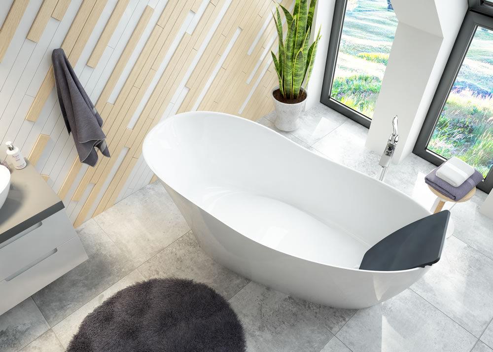 Vasca Da Bagno Ghisa Prezzi : Vasca da bagno da appoggio ovale ghisa minerale namur