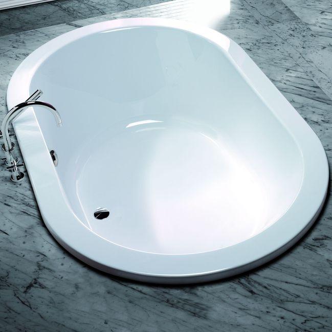 vasca da bagno ovale in acrilico scelta 3679 by adolf babel