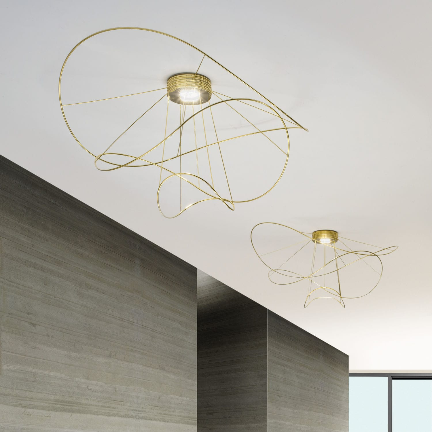 Plafoniera design originale / in metallo / LED / da interno ...