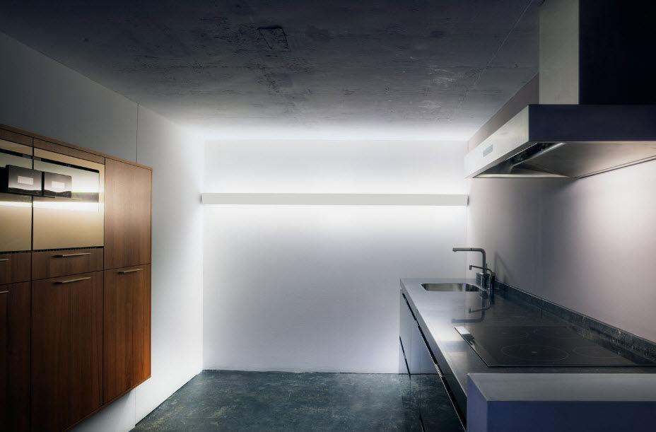 Applique design minimalista in alluminio a lampada