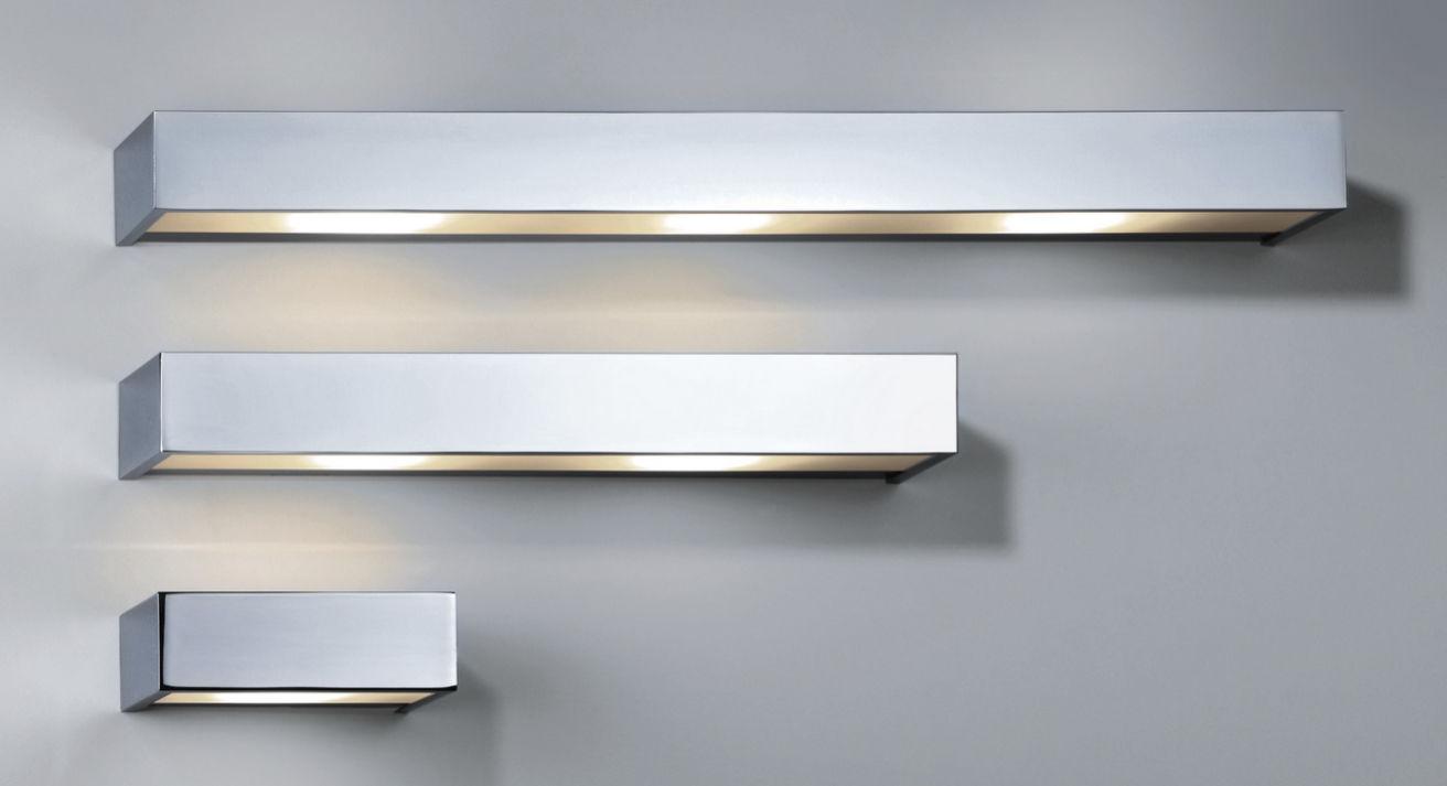Applique moderna in ottone placcato oro led rettangolare box