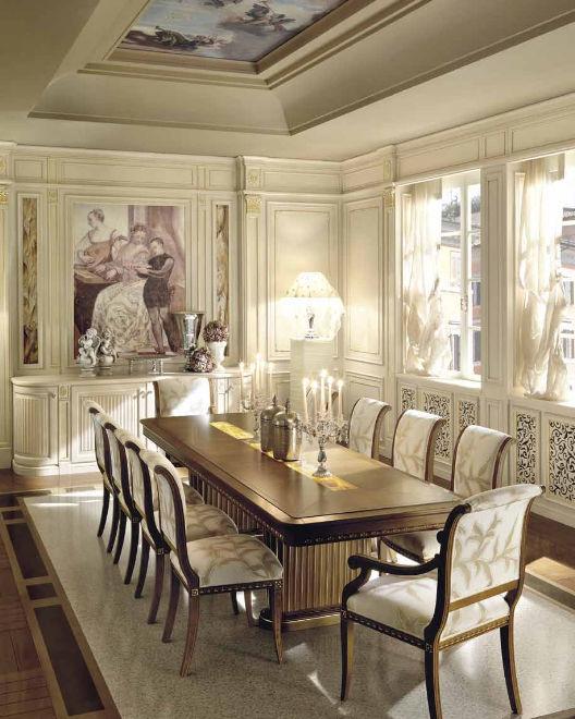 Tavolo da pranzo classico / in legno / rettangolare - ROME - MARTINI ...