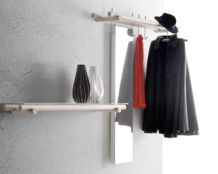 Appendiabiti a muro / moderno / in legno - TARGET by Enzo Berti - Flai