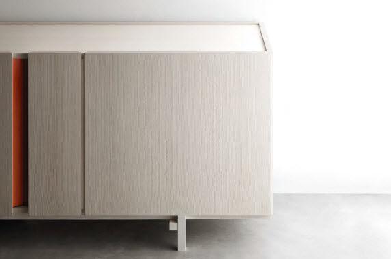 Credenza Moderna Con Tavolo Estraibile : Credenza moderna in legno scoop by enzo berti flai