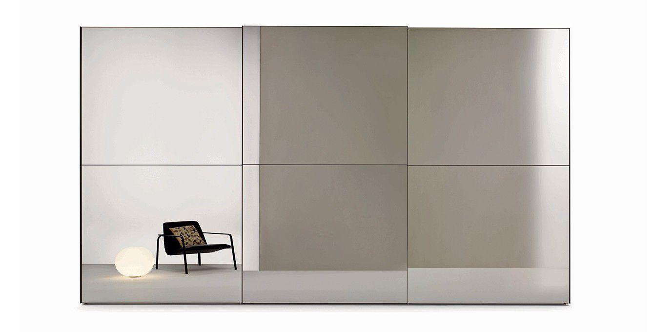 Armadio da parete / moderno / in vetro laccato / in melamminico ...