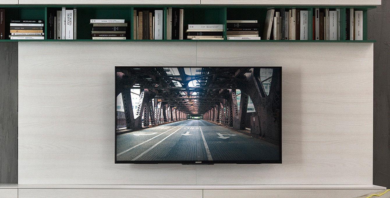Parete attrezzata TV moderno / in legno laccato / in olmo - PLAY ...
