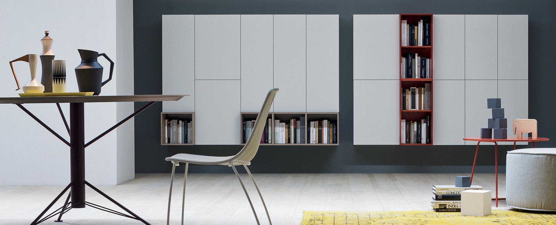 Parete attrezzata per soggiorno moderna / in legno - BOX 12 - NOVAMOBILI