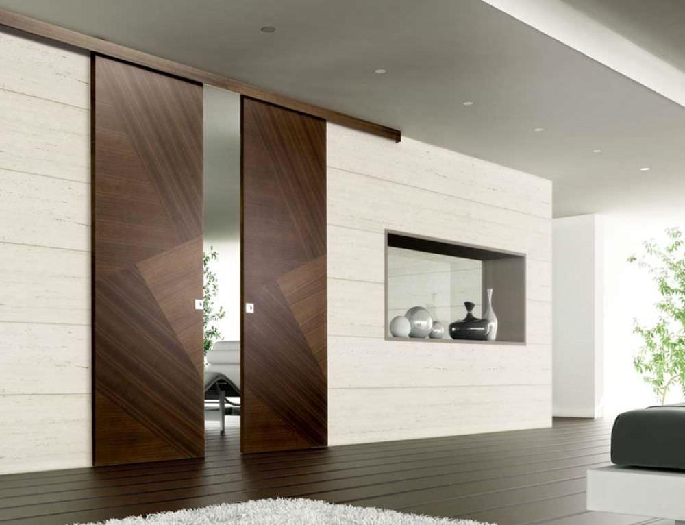 Porta da interni / scorrevole / in legno / a tutta altezza - RIO ...