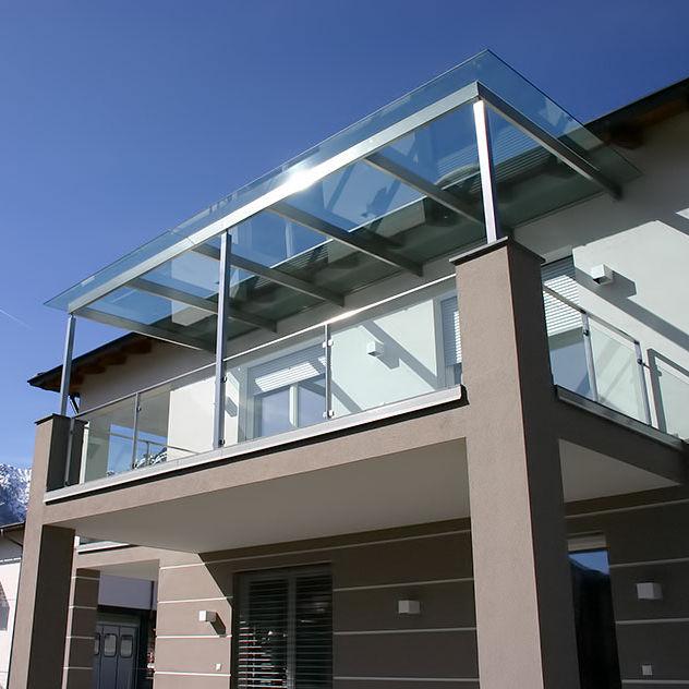 Tettoia per terrazzo / in acciaio inox / prefabbricata - INOX DESIGN