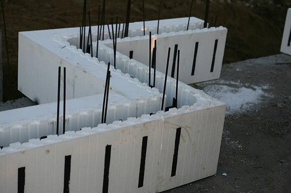 Blocco cassero in polistirene espanso PSE / per muro / isolante ...