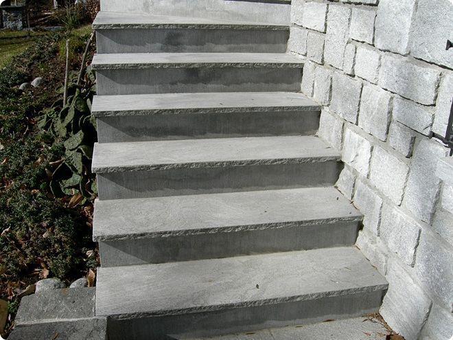 Estremamente Scala dritta / con gradini in pietra / con alzata / moderna  AS09