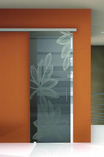 Porta da interni / scorrevole / in vetro - GHIBLI-A - CRISTAL PORTE ...