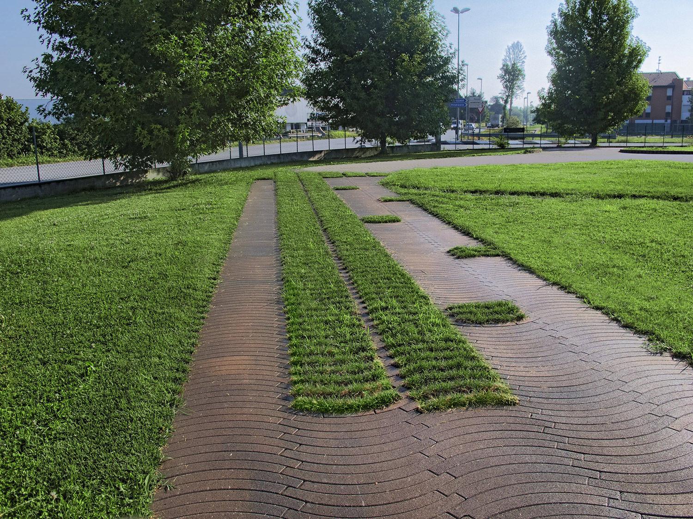 Piastrella da esterno da pavimento in calcestruzzo opaca