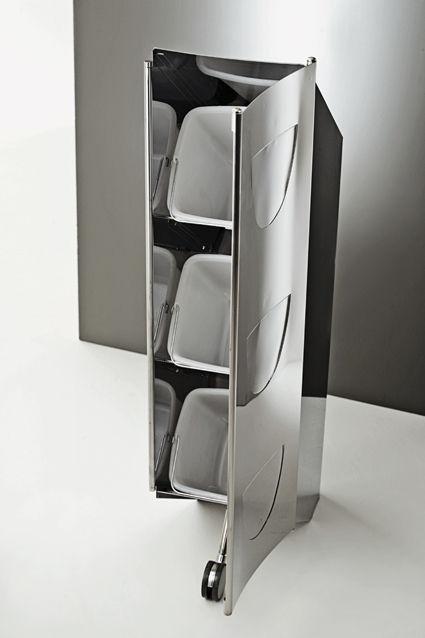 Pattumiera da cucina / da incasso / in acciaio inox / moderna ...