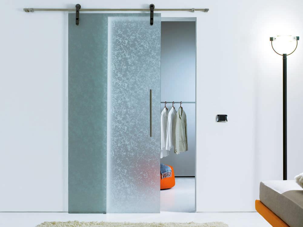 Porta da interni / scorrevole / in vetro - KYOTO - VITREALSPECCHI SPA