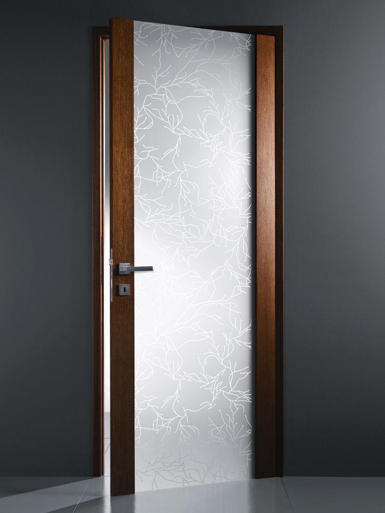 Porta da interni / battente / in legno / vetrata - IRAMI ...