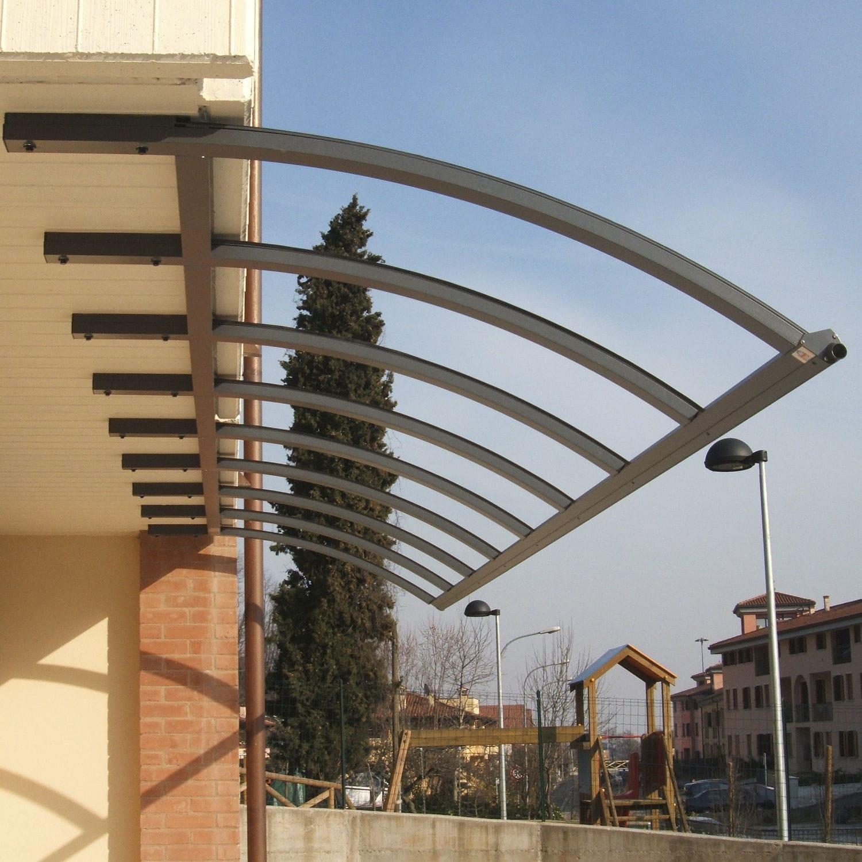 Tettoia per terrazzo / in alluminio / in policarbonato / ad arco ...