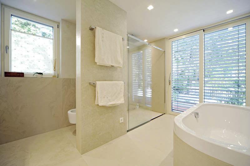 Piastrella da interno da bagno da parete da pavimento crema