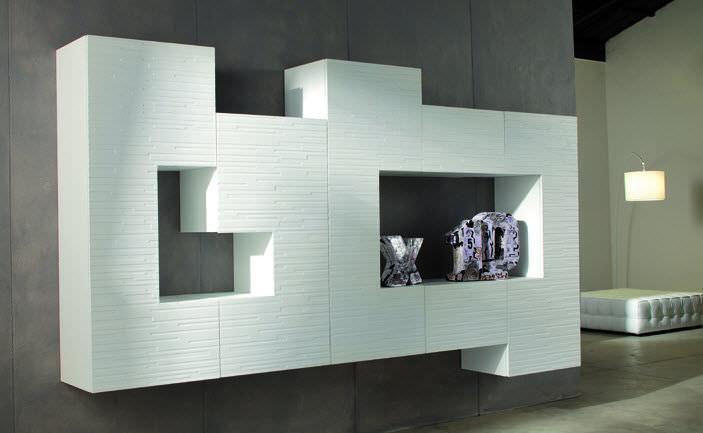 parete attrezzata per soggiorno moderna - 555 - composition n.004 ... - Soggiorno Parete Attrezzata Moderna
