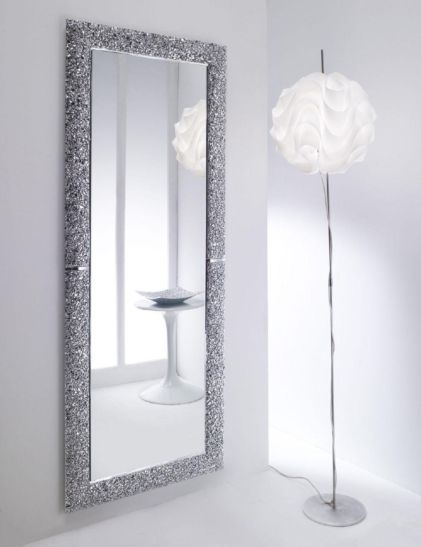 Specchi A Parete Moderni.Specchio A Muro Moderno Rettangolare Contract Preziosa
