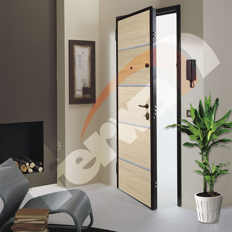 porta d'ingresso / battente / in legno / di sicurezza - blindo ... - Porte In Legno Di Design Di Alta Sicurezza